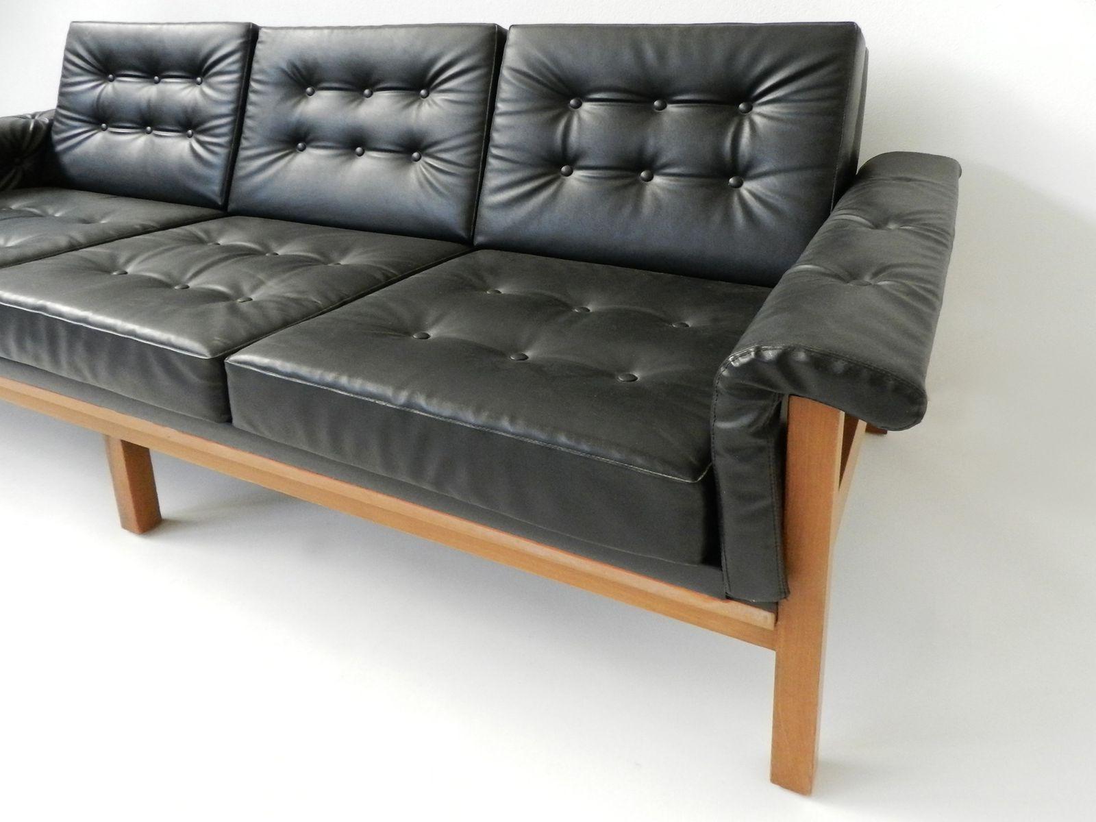 Sofa De Escai D0dg sofà Danà S Mid Century De 3 asientos De Escai En Negro En Venta En