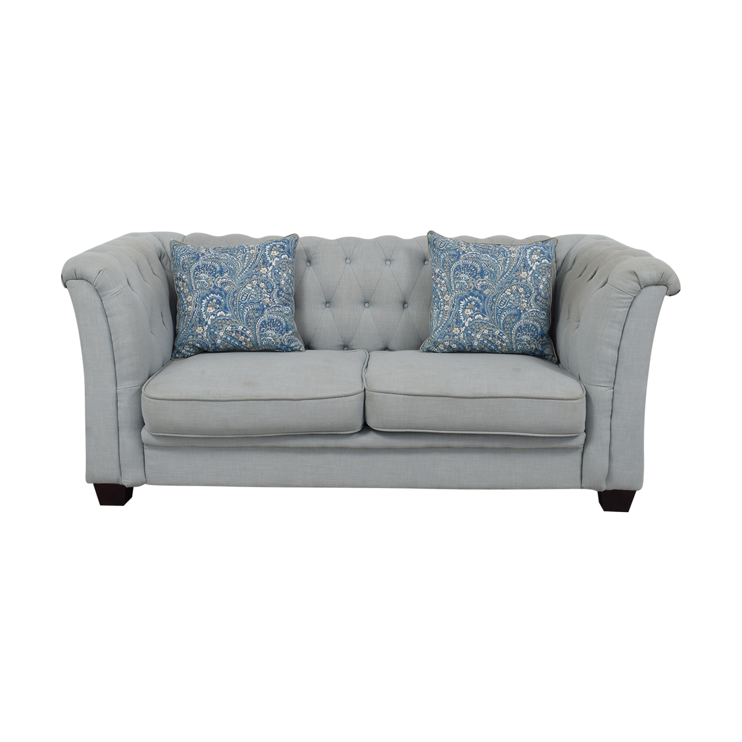 Sofa De Escai S1du 78 Off Delvi Furniture Delvi Furniture Sky Blue Tufted Two