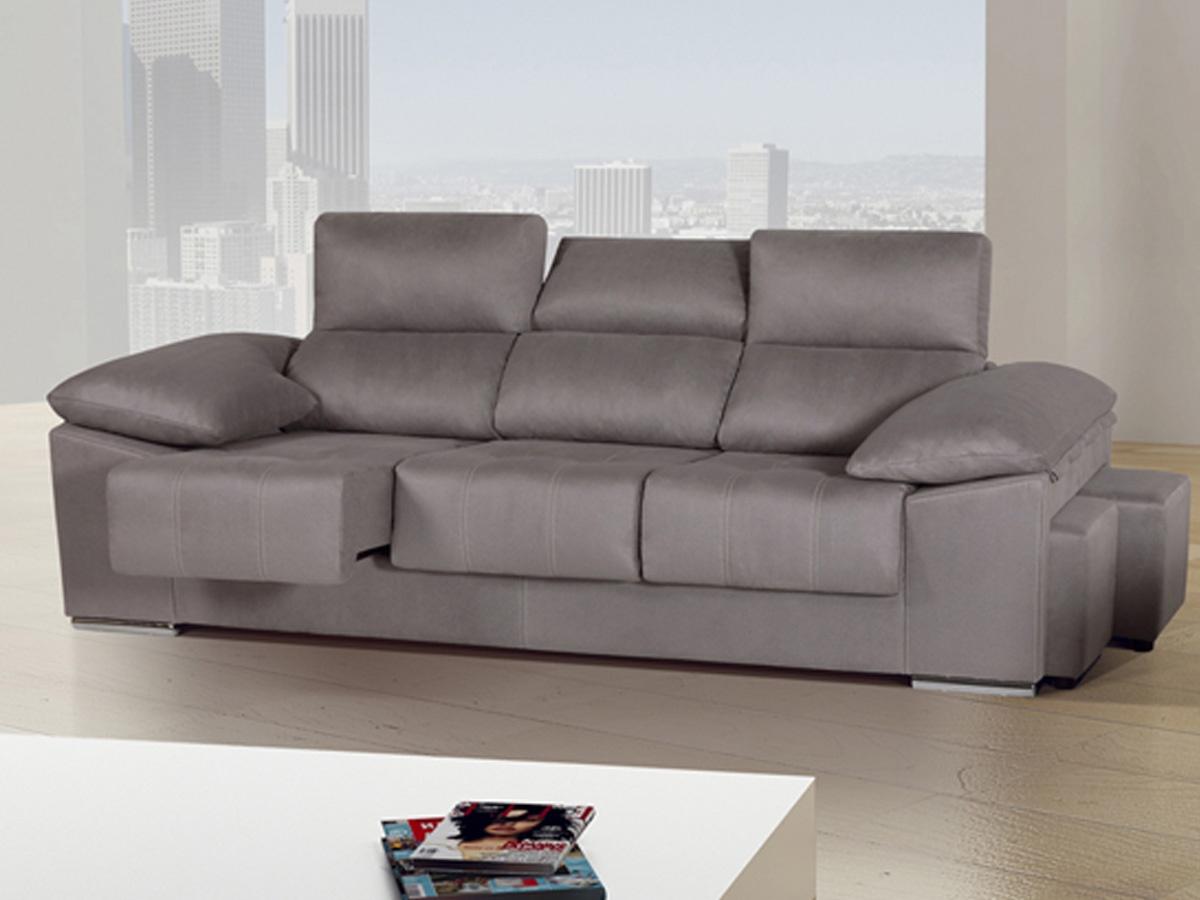 Sofa Extensible 3 Plazas Kvdd sofà Grande De 3 Plazas Xl Con Brazos Inclinados Y Puffs Lateral