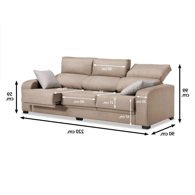 Sofa Extensible 3 Plazas Q0d4 sofà 3 Plazas London Reclinable Extensible Desenfundable Beige 220 Cm