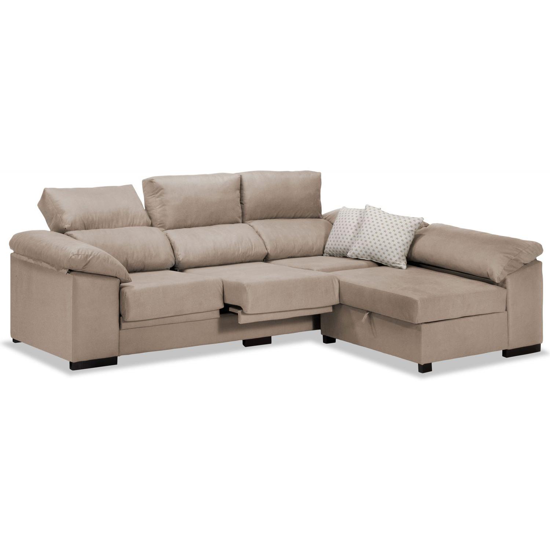 Sofa Extensible 3ldq sofà Chaise Longue Pepe Beige Reclinable Extensible 240 Cm