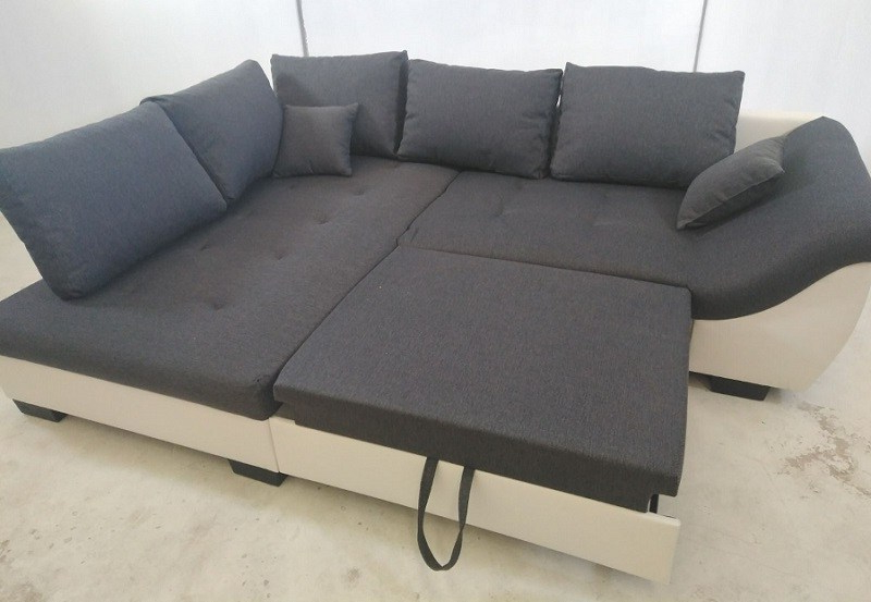 Sofa Extensible Etdg Corner sofa with Pull Out Bed Carmen Don Baraton
