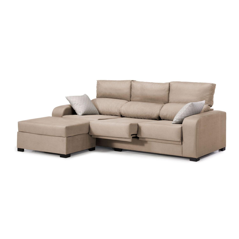 Sofa Extensible Jxdu sofà Chaise Longue London Beige Reclinable Extensible 220 Cm