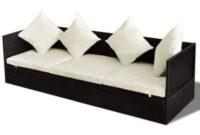 Sofa Exterior Ikea 87dx Vidaxl Tumbona sofà De Exterior Jardà N De Poli Ratà N Marrà N Y Cojines Blancos