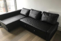 Sofa Friheten Dddy Ikea Friheten Black Leather sofa Bed Great Condition Can Deliver