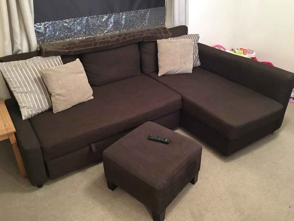 Sofa Friheten E9dx Ikea Friheten Brown sofa sofa Bed Storage Foot Stool Pouffe
