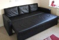 Sofa Friheten Kvdd Free Delivery Ikea Friheten Black Leather 3 Seater sofa Bed