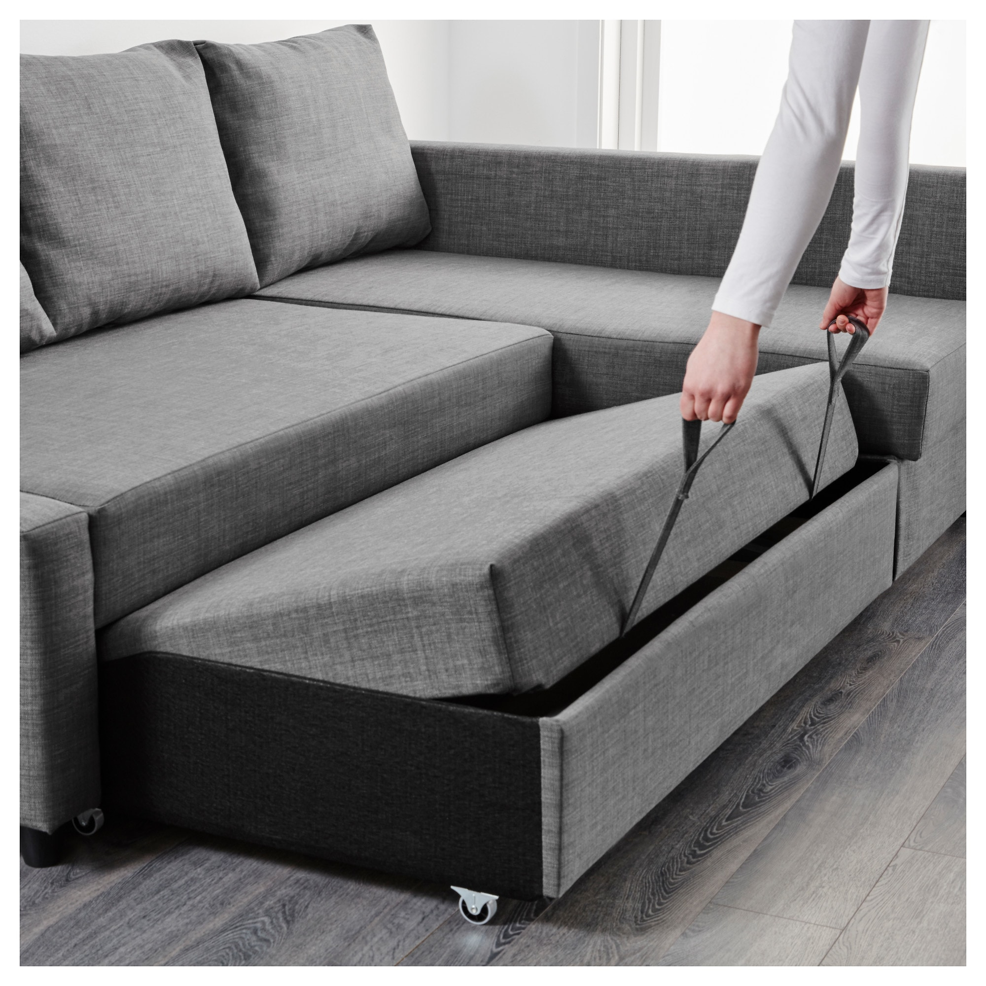Sofa Friheten Y7du Friheten Corner sofa Bed with Storage Skiftebo Dark Grey Ikea