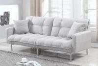 Sofa Futon Whdr Nemo Cheery Modern soft Linen Sleeper Futon sofa sofamania