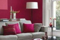 Sofa Gris Como Pintar Las Paredes Kvdd Estar Perfectamente Binado En Fucsia Y Blanco Miriam House