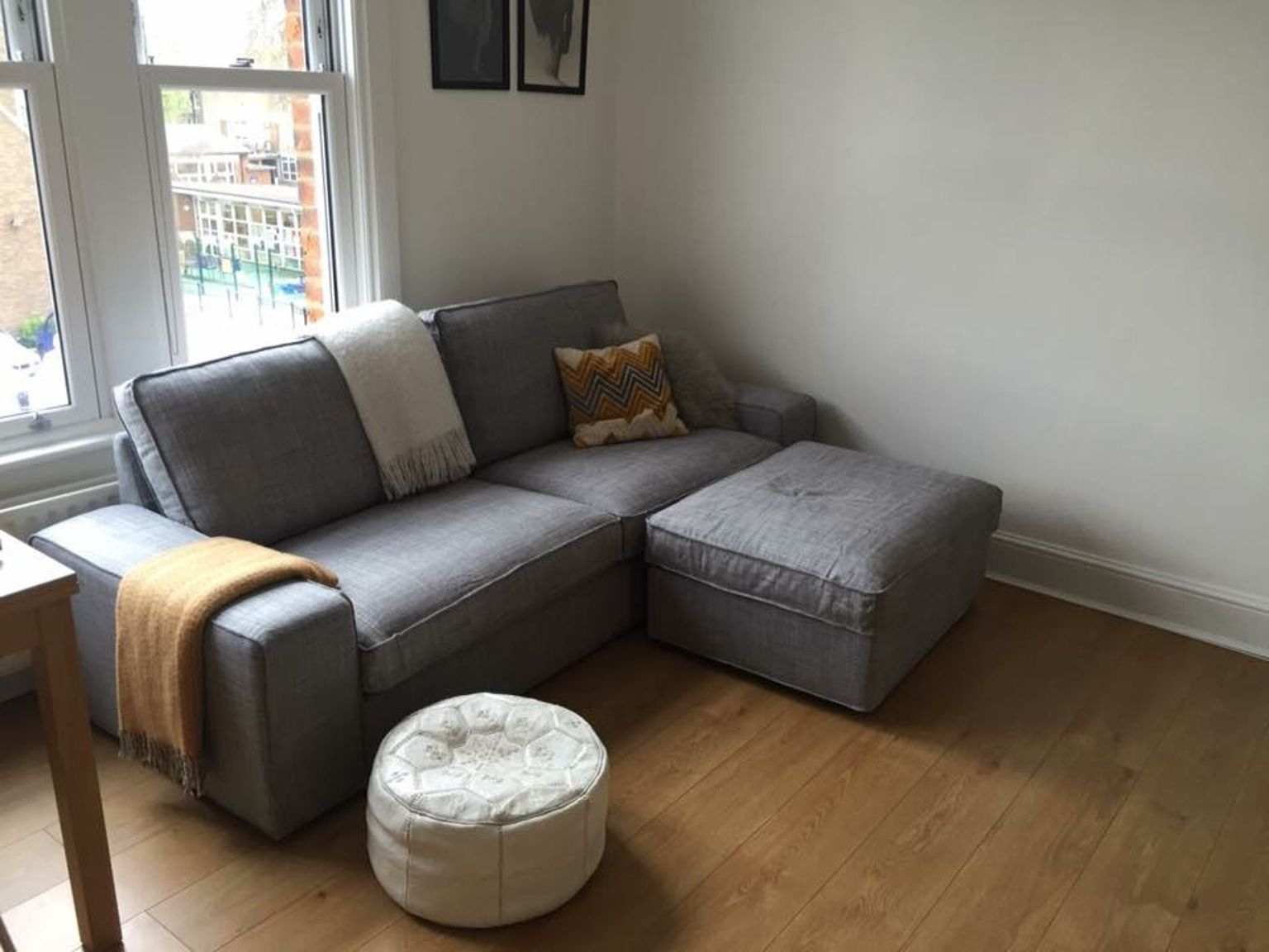 Sofa Kivik Ikea Dwdk Used Ikea 3 Seater Grey Kivik sofa Footstool In N5 London for