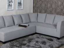 Sofa L Txdf Naples L Shaped sofa Set with Cushions In Grey Colour by