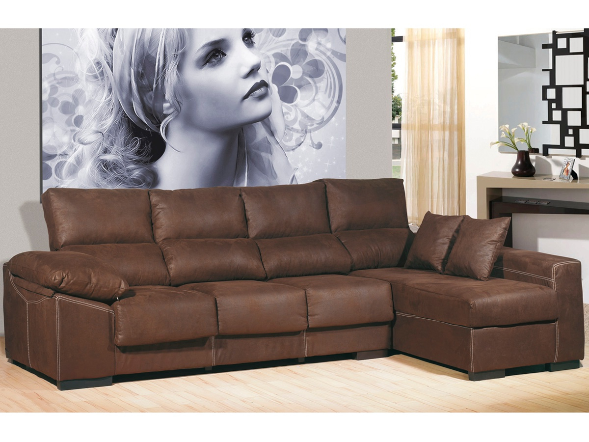 Sofa Marron Chocolate Thdr sofà Chaise Longue De 4 Plazas Chaise Longue Color Chocolate