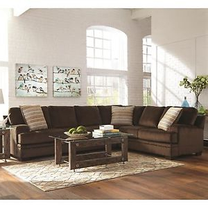 Sofa Marron Chocolate U3dh Chocolate Brown Textured Velvet Corner sofa Sectional Living Room