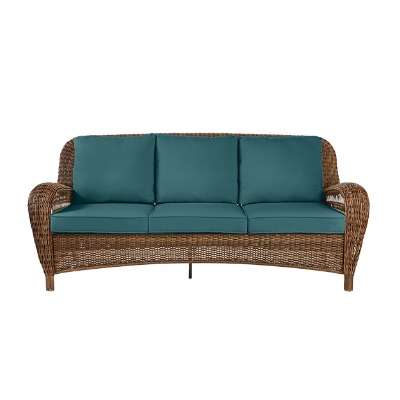 Sofa Mimbre 87dx Outdoor Couches Outdoor Lounge Furniture the Home Depot