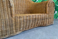 Sofa Mimbre 8ydm Sculptural Wicker sofa 1970s