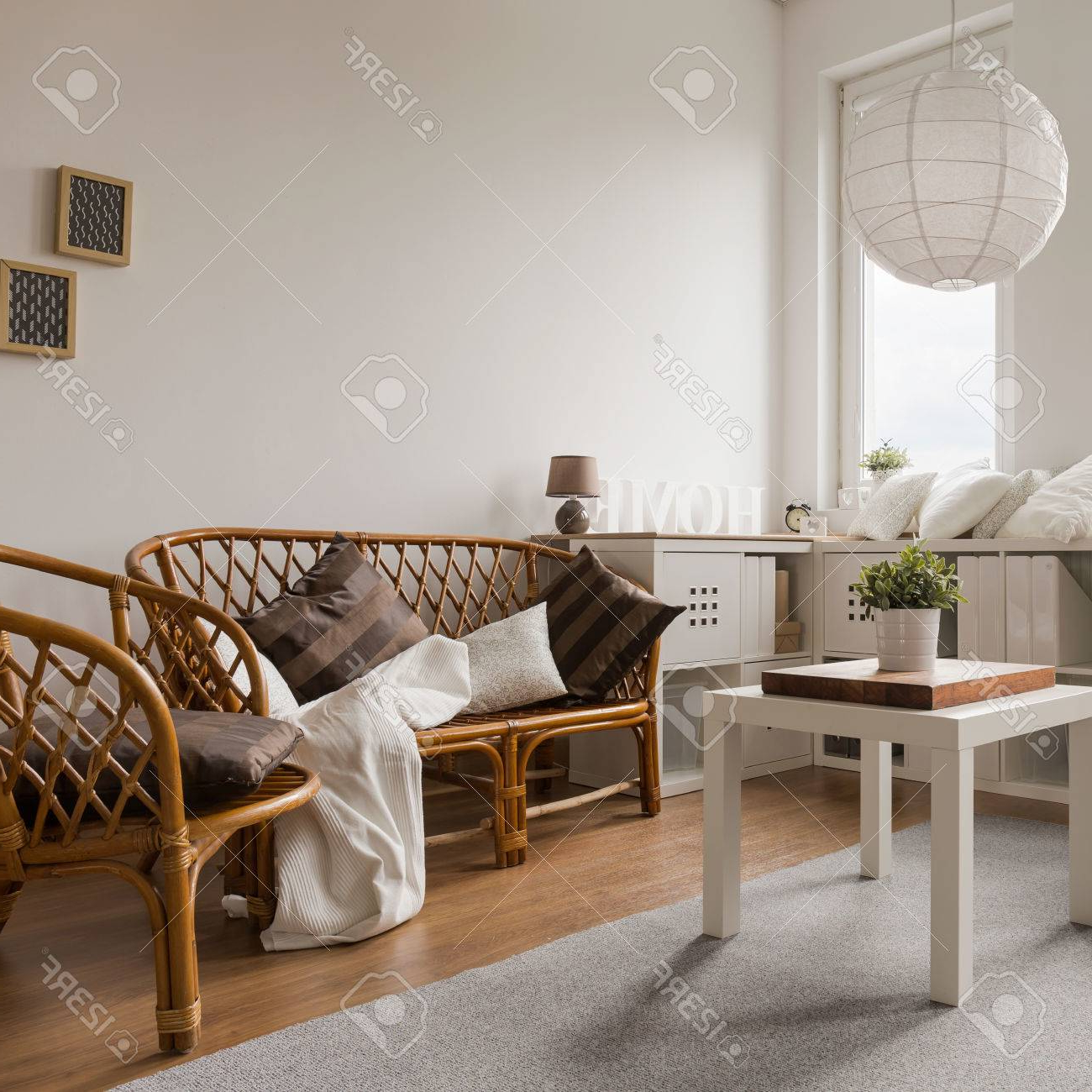 Sofa Mimbre Nkde Wicker sofa and Chairs In Living Room