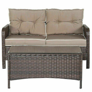 Sofa Mimbre Q5df 4 Pcs Outdoor Patio Rattan Wicker Furniture Set sofa