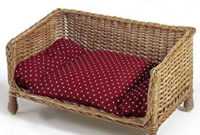 Sofa Mimbre Qwdq Wicker sofa Cats Dogs Cushion Handwoven Sleep Catnap Chilling