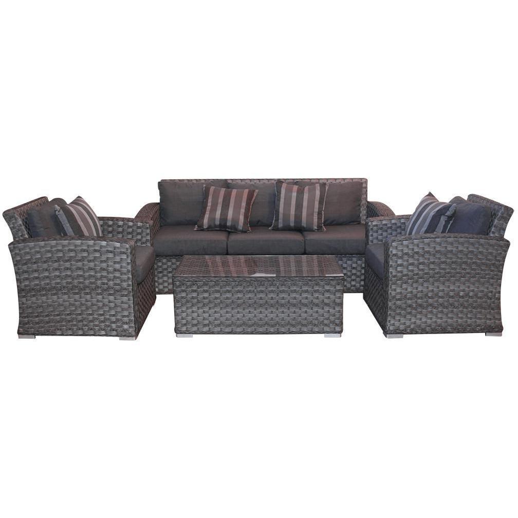 Sofa Mimbre Thdr sofa Set Mesita P Cafe Gris
