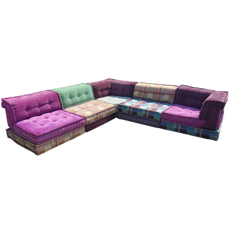 Sofa Modular Drdp Mah Jong Modular sofa by Roche Bobois at 1stdibs