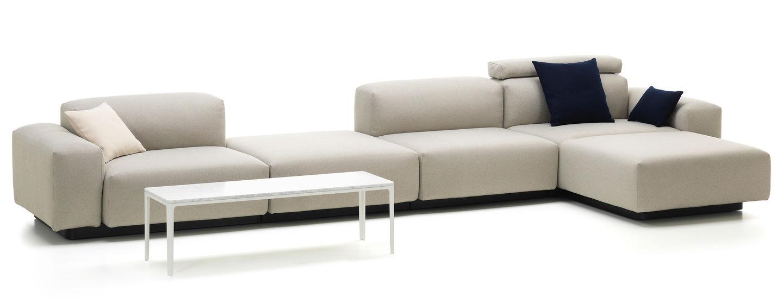 Sofa Modular Rldj Vitra soft Modular sofa Four Seater Platform Chaise Longue