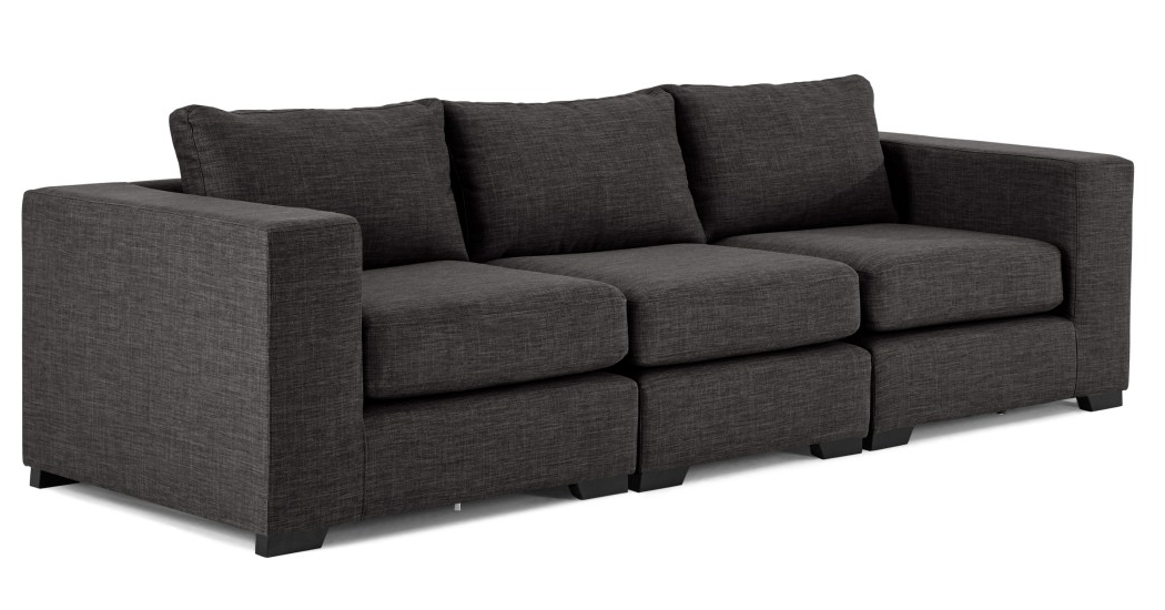 Sofa Modular U3dh Mortimer 4 Seat Modular sofa Seal Grey Made