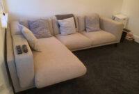 Sofa Nockeby 8ydm Almost New Light Grey Ikea Nockeby Two Seat Corner sofa In