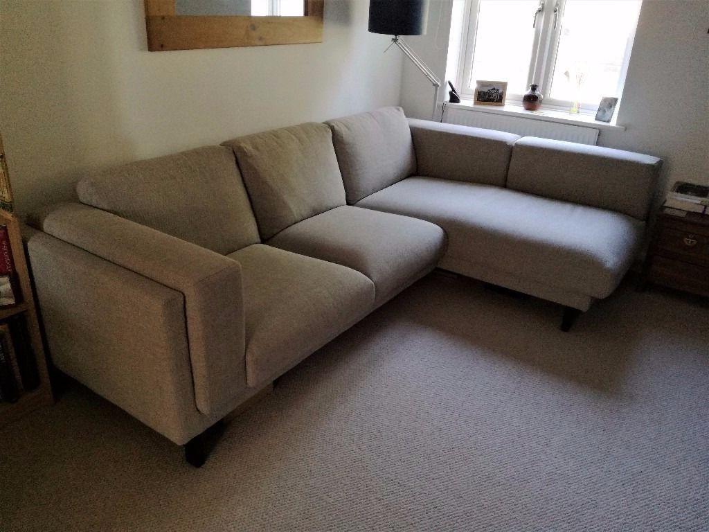 Sofa Nockeby D0dg Like New Condition Ikea Nockeby sofa with Chaise Longue On Left