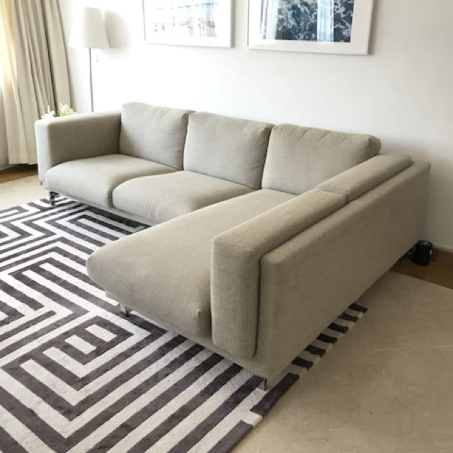 Sofa Nockeby Irdz Ikea Nockeby L Shaped sofa Furniture sofas On Carousell