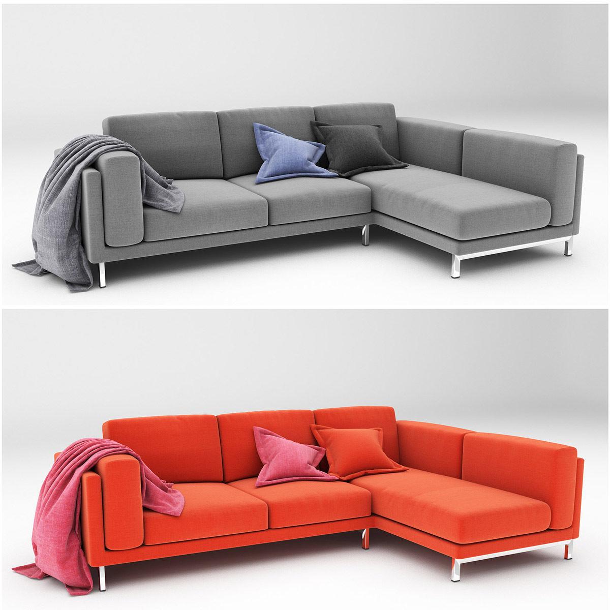 Sofa Nockeby O2d5 3d Nockeby 2 sofa Cgtrader