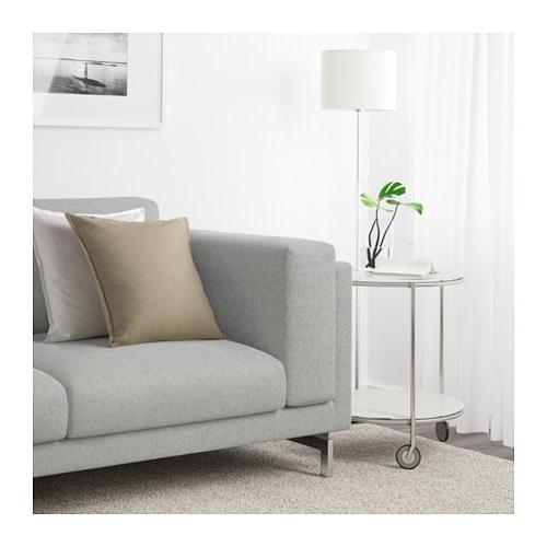 Sofa Nockeby Whdr Nockeby sofa Tallmyra White Black Chrome Plated Ikea