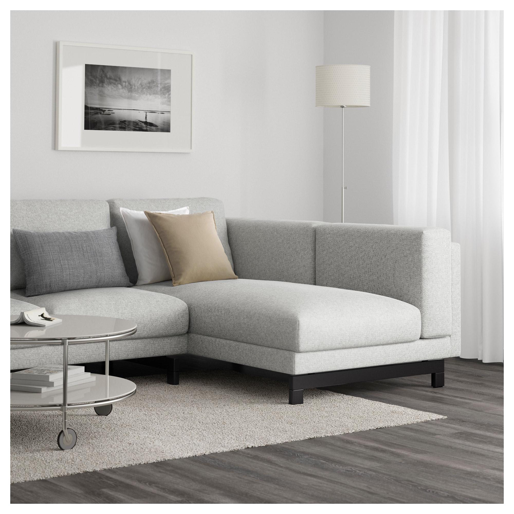 Sofa Nockeby Xtd6 Nockeby 3 Seat sofa with Chaise Longue Left Tallmyra White Black