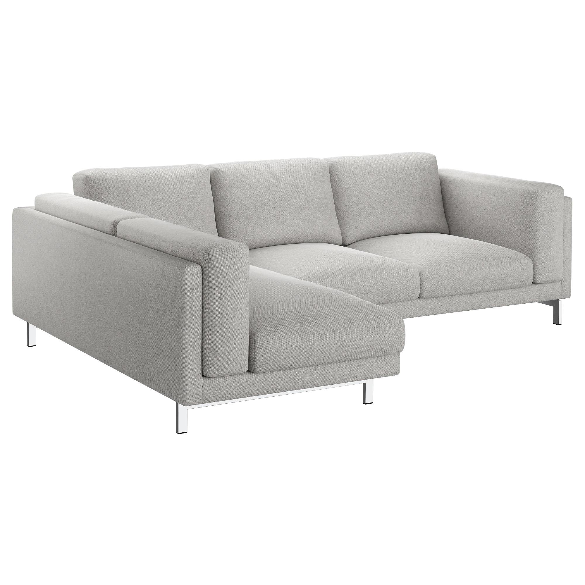 Sofa Nockeby Xtd6 Nockeby 3 Seat sofa with Chaise Longue Right Tallmyra White Black