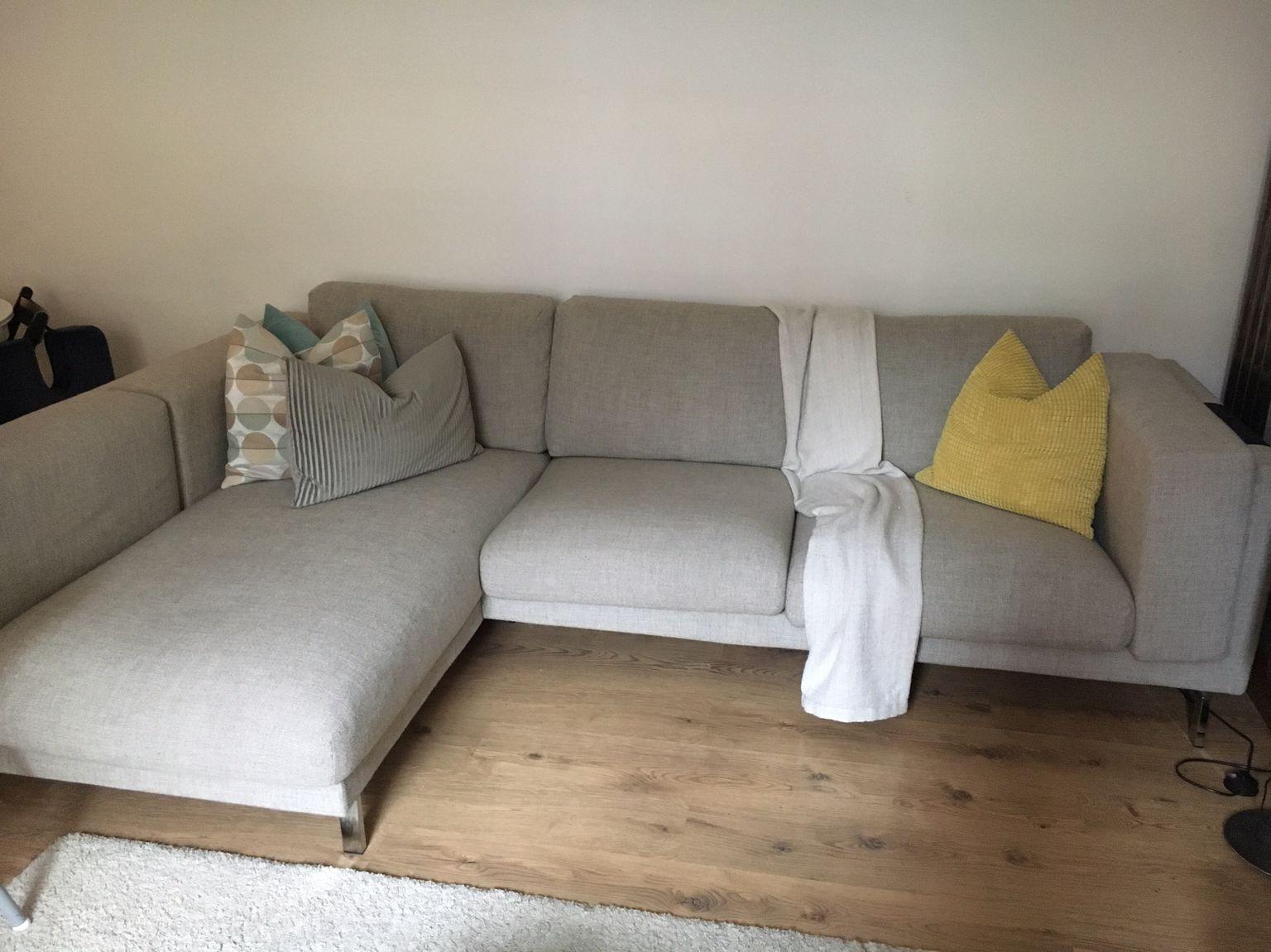 Sofa Nockeby Y7du Used Ikea Nockeby Corner sofa In Light Grey Wood In Wc1h London for