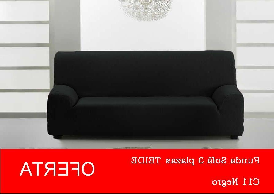 Sofa Oferta E6d5 Funda sofà 3 Plazas Teide Color Negro En Oferta Elà Stica 100 Garantà A