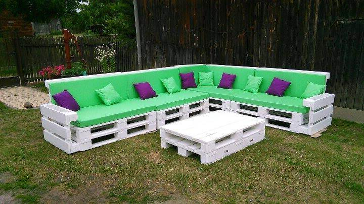 Sofa Pallet 8ydm Beautiful Pallet Corner sofa 101 Pallets
