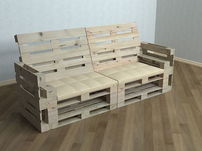 Sofa Pallet Budm Pallet sofa 3d Cgtrader