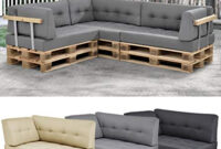 Sofa Pallet Dddy Ensa  Euro Pallet sofa 1 X Back Rest Cushion Pad Outdoor