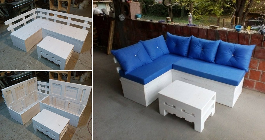 Sofa Pallet Kvdd Diy Pallet sofa with Storage Home Design Garden Architecture