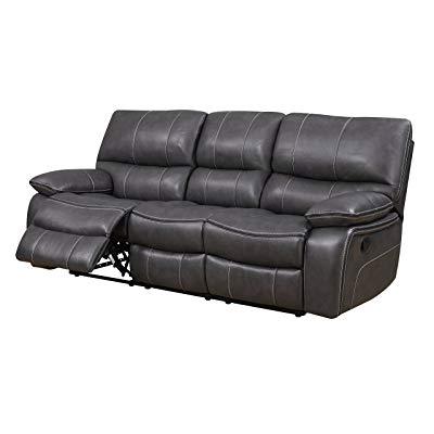 Sofa Reclinable Irdz Global Furniture U0040 Rs Reclining sofa Grey Black