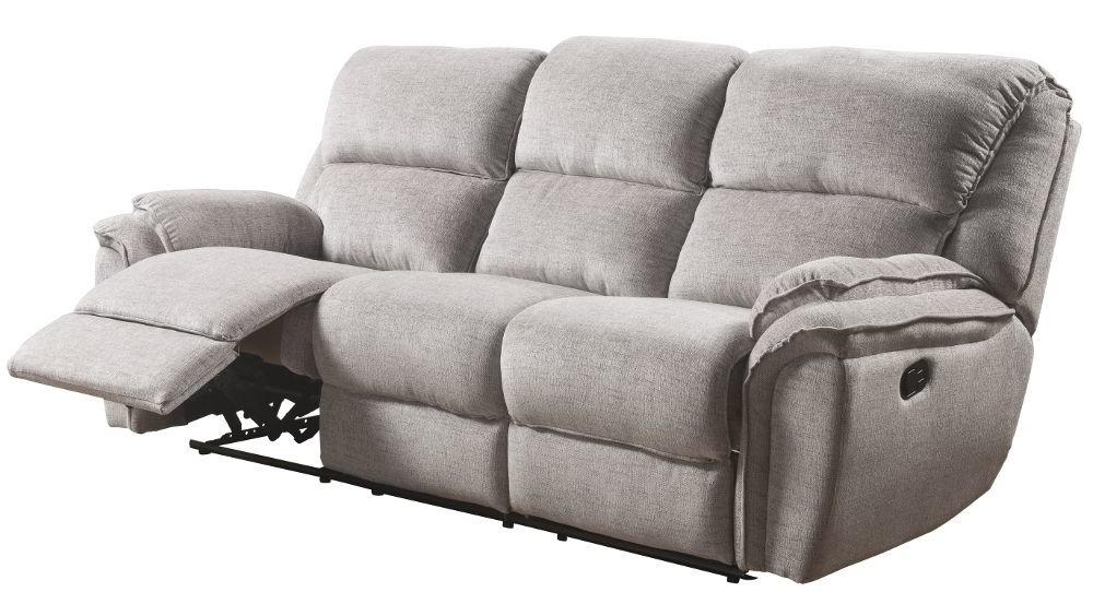 Sofa Relax 3id6 sofà Relax 3 Plazas De Tela Marly Gris Conforama