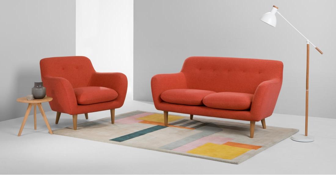 Sofa Retro Dddy Dylan 2 Seater sofa Retro orange Made