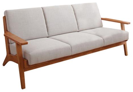 Sofa Retro Ffdn 3 Seater sofa Retro Scandinavian Pact Design Grey White by Home