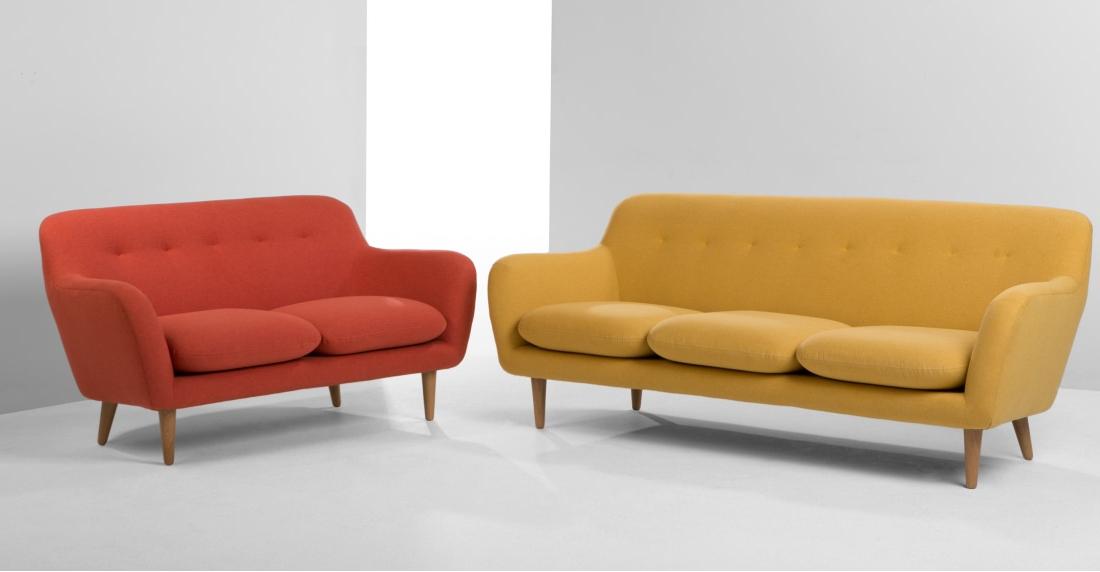 Sofa Retro Fmdf Dylan 3 Seater sofa Retro orange Made
