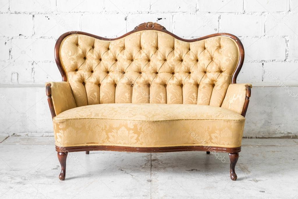 Sofa Retro Nkde Brown Retro sofa Stock Photo Vichie81