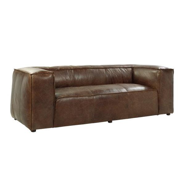 Sofa Retro Q5df Shop Acme Furniture Brancaster top Grain Leather sofa Retro Brown