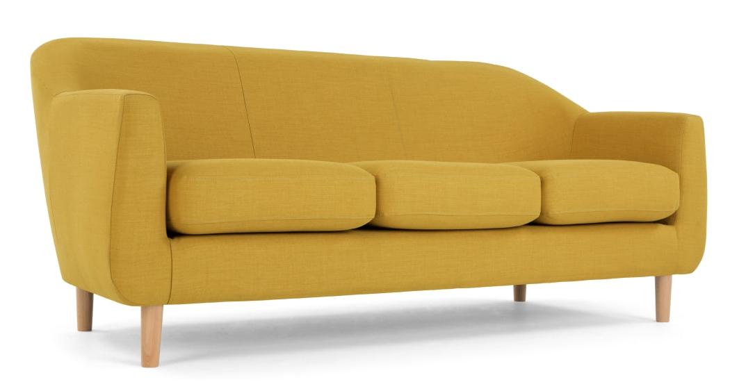 Sofa Retro Qwdq Tubby 3 Seater sofa Retro Yellow Made
