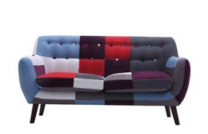 Sofa Retro Rldj 2 Seater Patchwork sofa New Retro Vintage Mix Colour Feb 2019