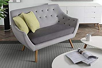 Sofa Retro Xtd6 My Furniture Poet sofa Retro 2 Two Seater sofa solid Oak Legs Grey
